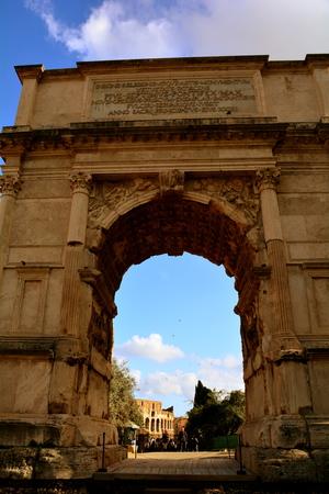 rome italy: Arch of Titus,Roman Forum,Rome Italy