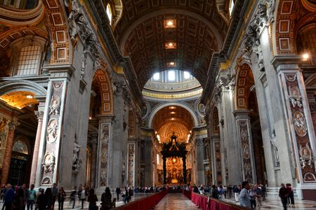 largest: Inside St. Peters bacilica,the worlds largest church.