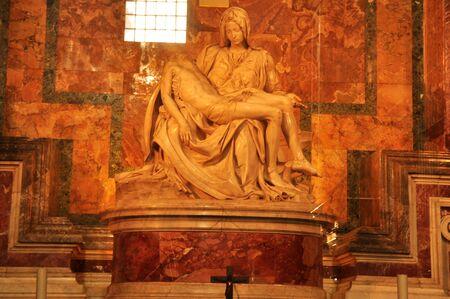 rome italy: Michelangelos Pieta,St.Peters basilica,Vatican, Rome Italy