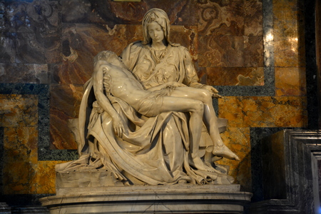 The Pieta by Michelangelo,St.Peters basilica Rome Italy