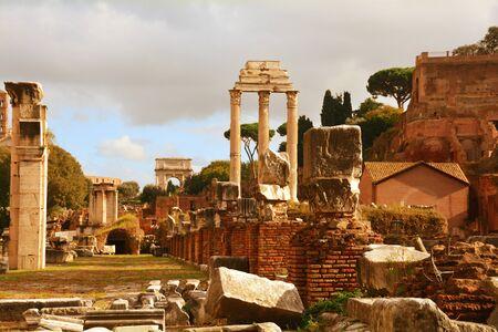 A l'intérieur du Forum romain