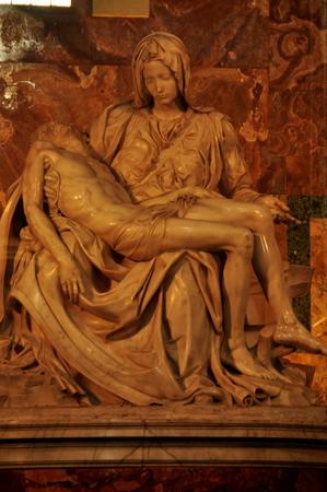 michelangelo: The Pieta by Michelangelo, Vatican, Rome Italy Stock Photo