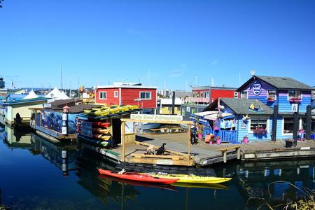 victoria bc: Fishermans Wharf, Victoria BC, Canada. Editorial