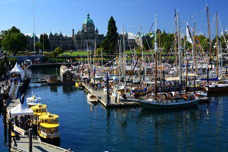 victoria bc: Classic Boat festival,inner harbor Victoria BC.