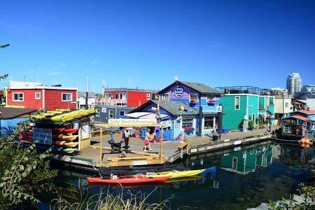 victoria bc: Fishermans Wharf, Victoria BC, Canada Editorial