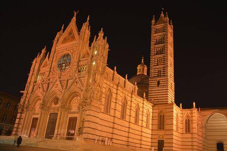 nightime: Il Duomo,Piazza del Duomo,Siena Italy