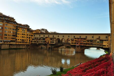 ponte: Ponte Vecchio bridge, Florence Italy. Editorial