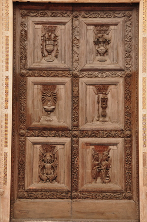 carved: Ancient carved church doors