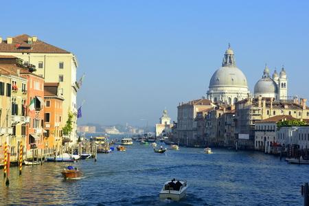 venice italy: Grand Canal traffic, Venice Italy. Editorial