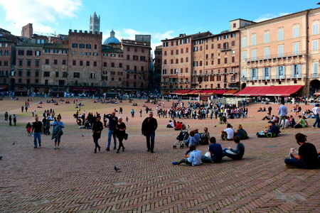 siena italy: Siena Italy and the famous square of Il Campo.