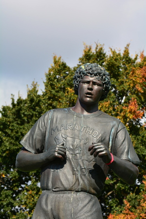 canadian icon: Terry Fox memorial monument,Victoria BC, Canada. Editorial