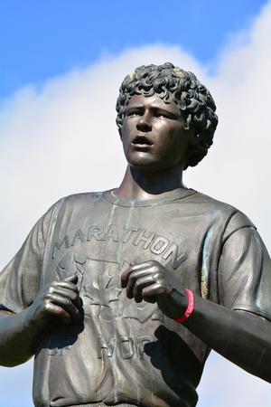 victoria bc: Terry Fox Marathon of Hope monument, Victoria BC, Canada