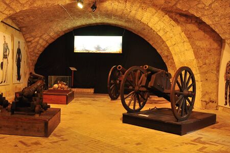 spoked: The munitions room inside the fortress of Civitella del Tronto.