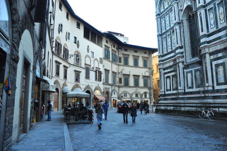 florence italy: Florence Italy street scene.