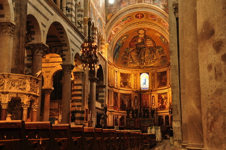 church interior: Church interior Pisa Italy. Editorial