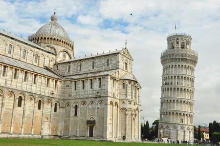 leaning tower of pisa: Leaning Tower of Pisa and the Duomo.