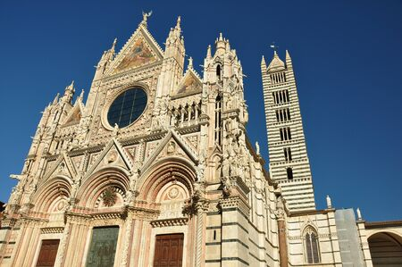 siena italy: Church in Siena Italy Stock Photo