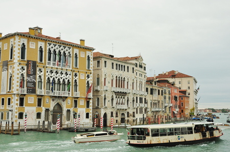 grand canal: Grand Canal and architecture in Venice Italy. Editorial