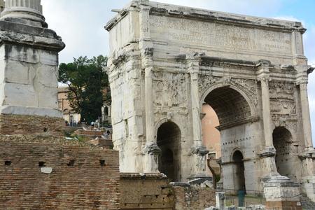 severus: Arch of Septimius Severus in the Roman Forum,Rome Italy.