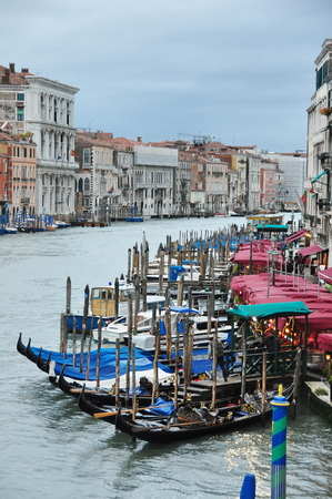 grand canal: The grand Canal in Venice Italy taken from the Rialto bridge.