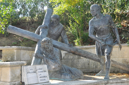 bible story: Station seven of the Stations of the Cross
