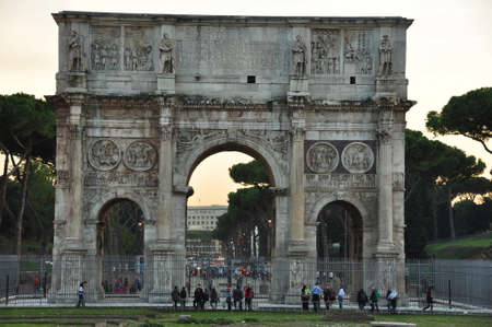 constantine: Arch of Constantine, Rome Italy Stock Photo
