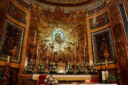 Angeli: Santa Maria degli Angeli church interior.Altar in the church,Rome Italy. Editorial
