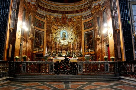 Angeli: Church interior of Santa Maria degli Angeli,Rome Italy Editorial