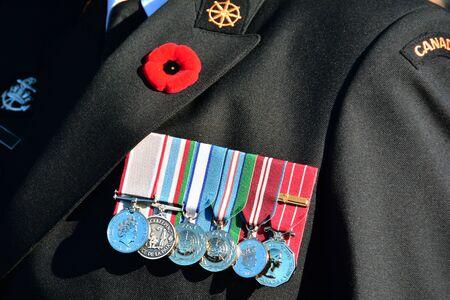 war decoration: Remembrance day,Victoria BC,Canada 2015.