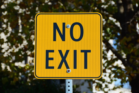 exit sign: No exit sign Stock Photo