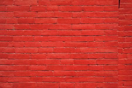 Barrera de pared de ladrillo rojo Foto de archivo - 52780186