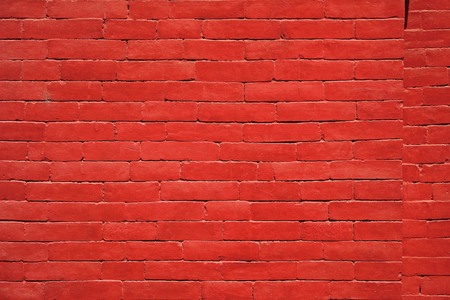 barrier: Red brick wall barrier Stock Photo