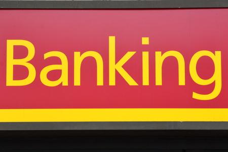 at sign: Banking sign