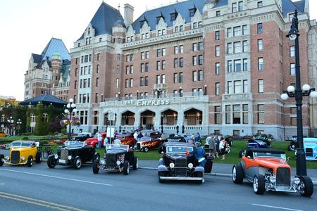 victoria bc: Classic cars in Victoria BC,Canada on the Empress lawn. Editorial