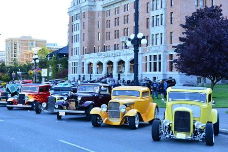 victoria bc: Classic car festival Victoria BC,Canada