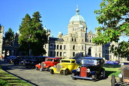 victoria bc: Classic car show in Victoria BC,Canada