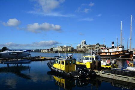 victoria bc: Inner harbor sites and activies, Victoria BC. Editorial