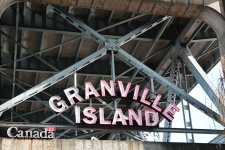 Granville Island entrance sign Editorial