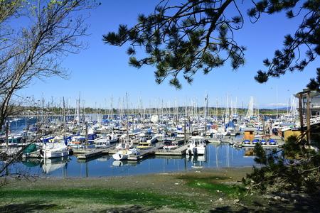 Oak Bay marina in Victoria BC, Canada. Stok Fotoğraf