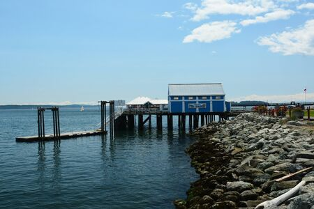 Fish market and restaurant in Sidney by the Sea BC