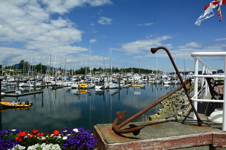 Beautiful marina in Sidney by the Sea BC