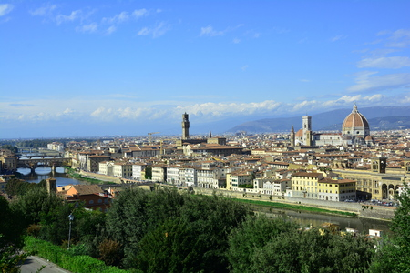 The beautiful skyline of the Tuscan capital of Florence Italy. Editoriali