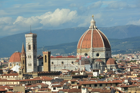 The church of Santa Maria del Fiore in Florence Italy in Tuscany. Editorial