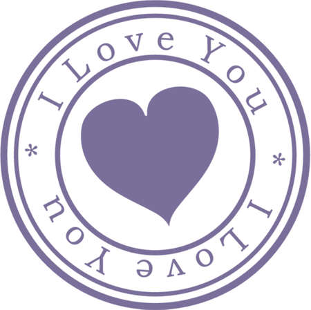 Stamp  I love you . Blue. A vector illustration. Isolated Vector