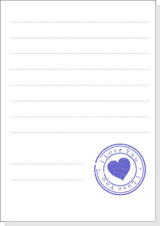 The form with a stamp. A vector illustration. Isolated Stock Illustration - 707749