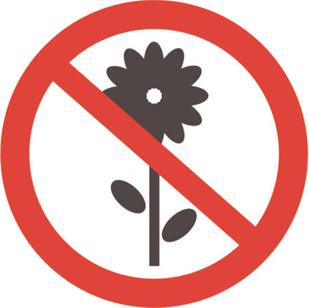 Flowers to not give! A vector illustration. It is isolated on a white background. Vector