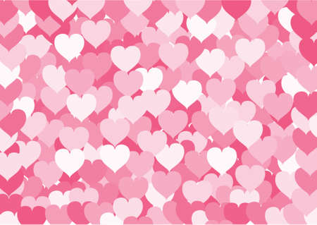 valentine passion: The background consisting of set of hearts. A vector illustration.