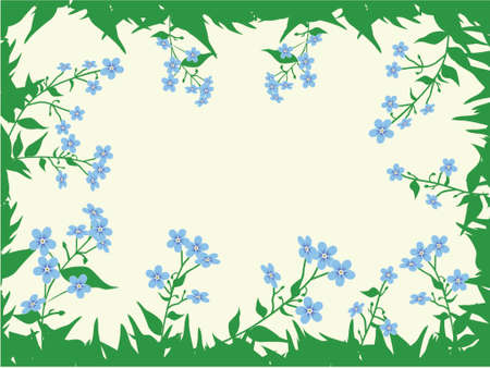 The form for the letter. The background consists of forget-me-nots. A vector illustration. Stock Vector - 749957