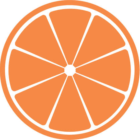 citric: Slice of citrus fruit . A vector illustration. It is isolated on a white background. Illustration