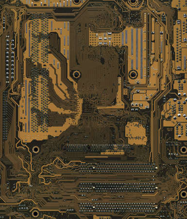 The inside computer motherboard. Background Stock Photo - 908018